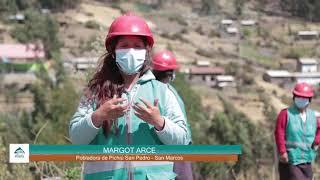 Mujeres de San Pedro de Pichiú mejoran su economía familiar gracias al Proyecto Minka de Antamina