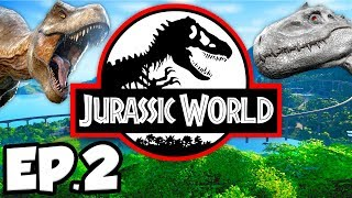 Jurassic World: Evolution Ep.2 - DISEASED DINOSAURS, MODIFYING GENES, AMBER! (Gameplay / Let