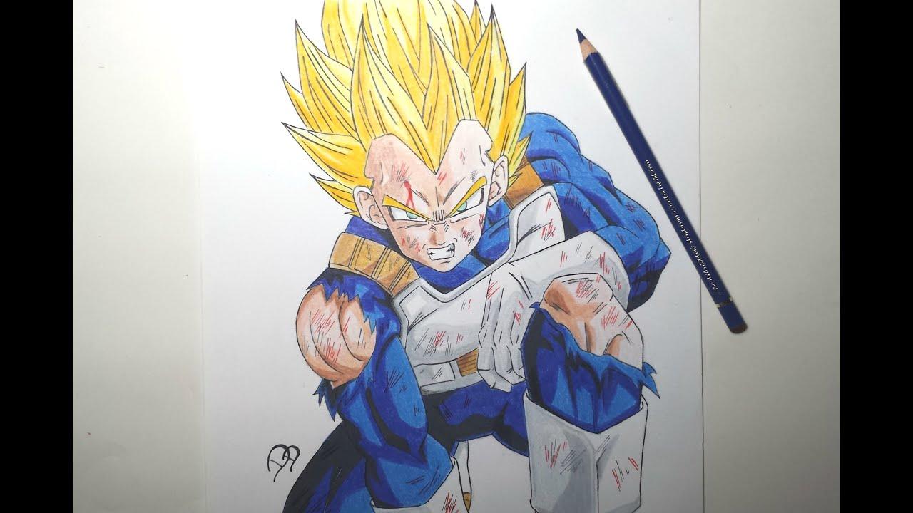 speed drawing vegeta ssj hd ���� youtube