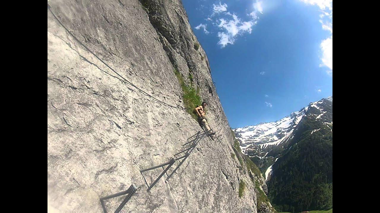 Klettersteig Engelberg : Klettersteig fürenwand engelberg youtube