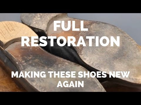 Salvatore Ferragamo Shoe Restoration | Refurbishing These Oxford Shoes