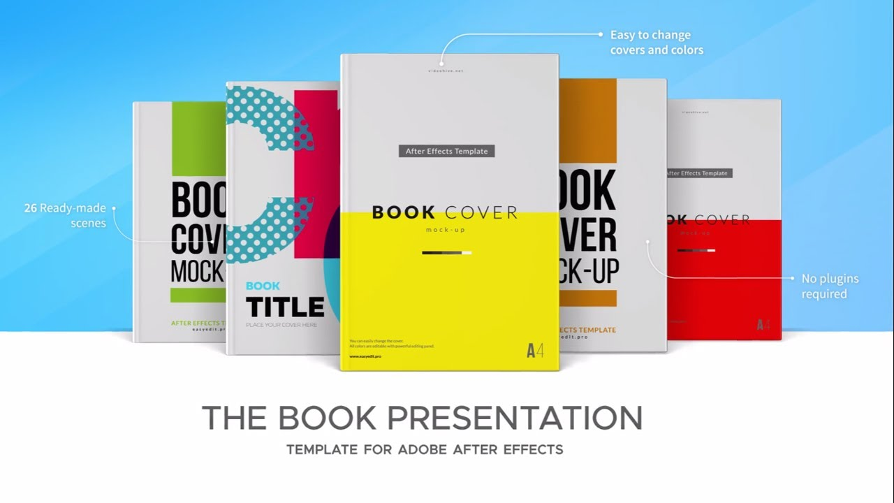 book presentation video - after effects template - youtube, Presentation templates
