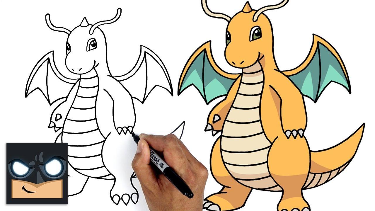 How To Draw Pokemon | Dragonite