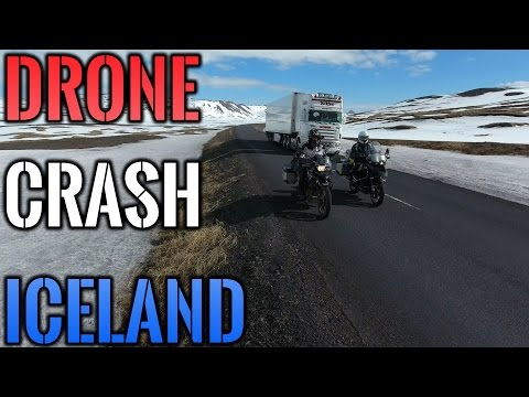 Crashing a Drone into a Truck in Iceland ......... almost