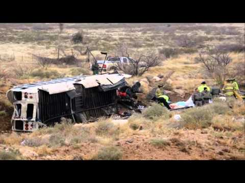 BREAKING NEWS: 10 dead, 5 hurt after prison bus falls off overpass, crashes into train in