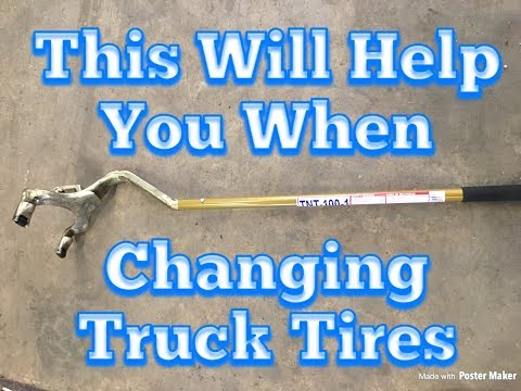 how to change a tire without a machine