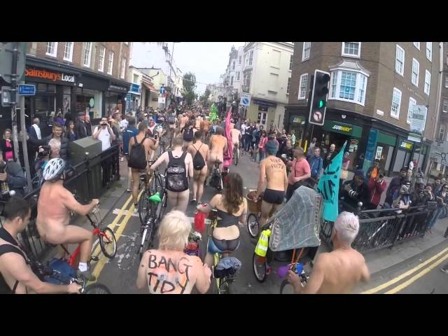 Brighton World Naked Bike Ride 2015