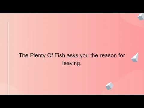 How To Delete Plenty Of Fish Account