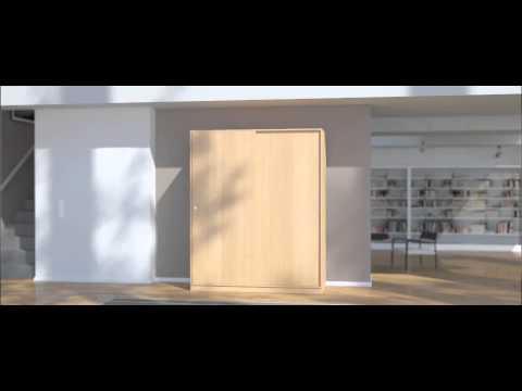schrank nach ma mit 2 schiebet ren youtube. Black Bedroom Furniture Sets. Home Design Ideas