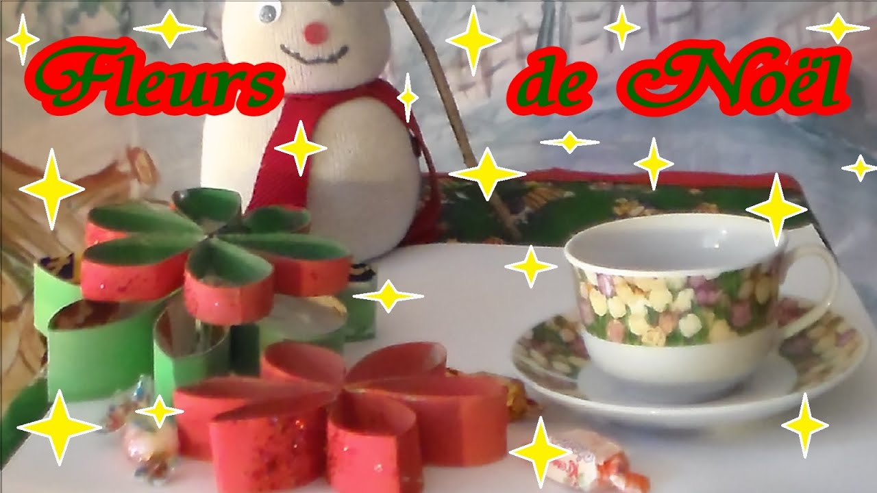 Bricolage de no l facile en papier d 39 une fleur 3d youtube - Creation rouleau papier toilette ...
