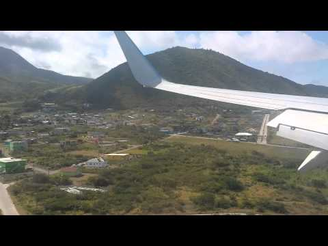 American Airlines 737-800 Landing at St Kitts Robert L Bradshaw Airport