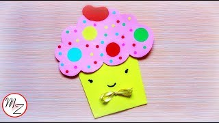 Surprise Cupcake card for birthday | DIY Cupcake birthday cards for kids | Birthday cards handmade