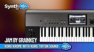 Korg Krome with sound Triton 50years korg Play By Grainkey ( space4keys keyboard solo )