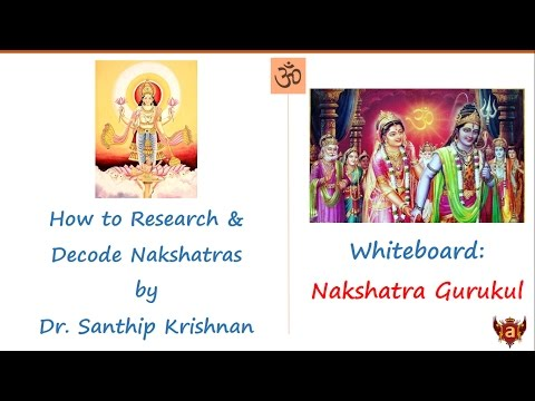 Whiteboard: How to Research and Decode the Secrets of Nakshatras by Dr. Santhip Krishnan