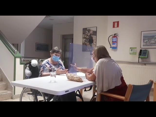Visita de familiares en la Residencia Kirikiño