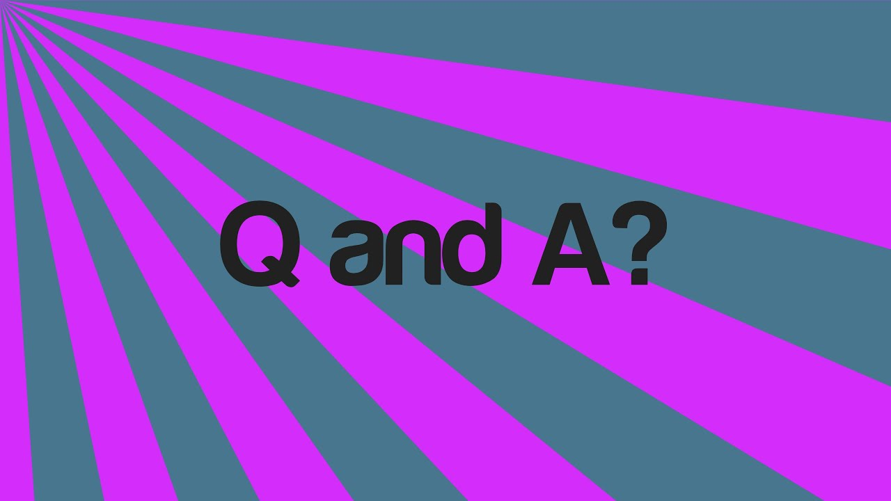 Q Is For Question Q and A Questions? - Y...