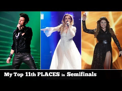 Eurovision 11th PLACES in SEMIFINALS (2004-2017) | My Top 24