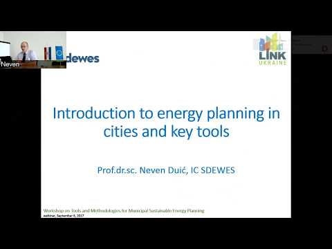 LEDS-EEP webinar series: Neven Duic - Introduction to energy planning in cities and key tools