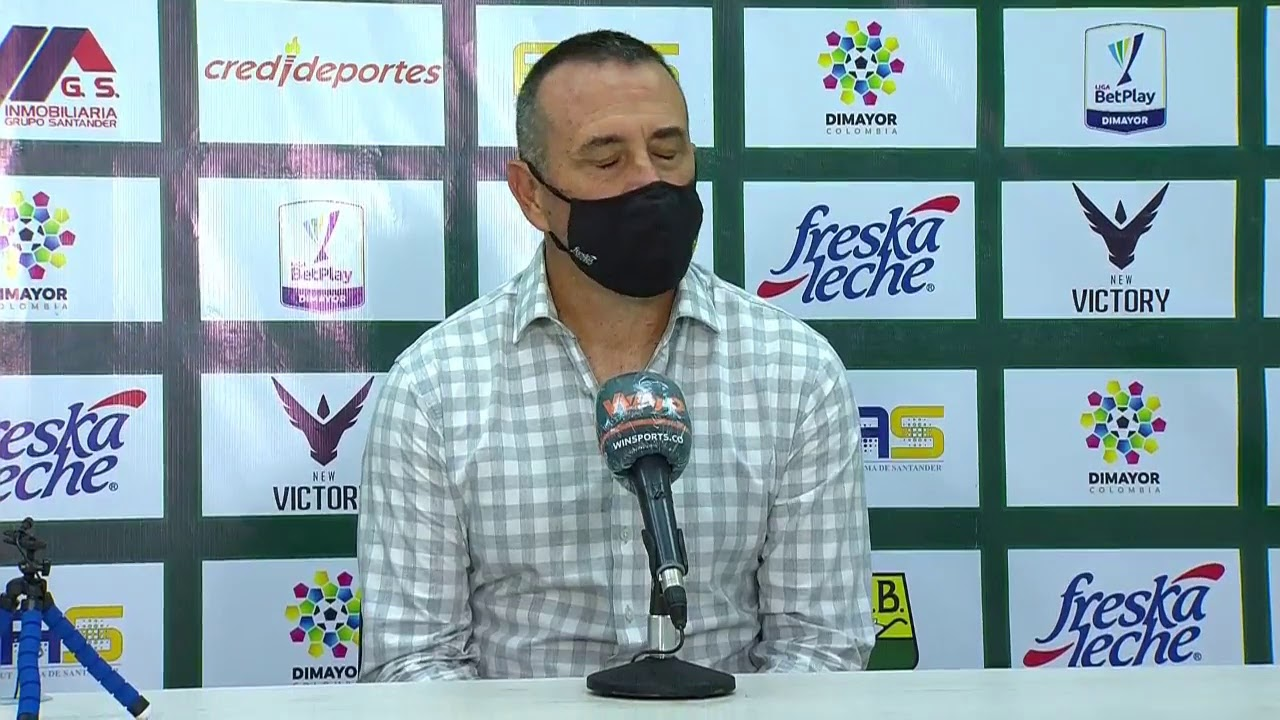 Rueda de prensa de Bucaramanga tras su partido contra Alianza Petrolera