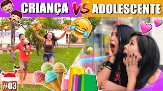 CRIANÇA VS ADOLESCENTE 2 feat. Loucos Da Vida #EspecialNatal   Blog das irmãs