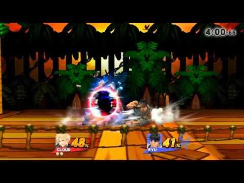 Super Smash Bros. Wii U - For Glory: J-AERIAL (AC Cloud) VS Ryu