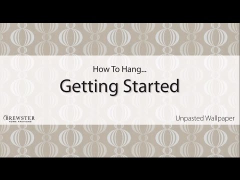 tips for hanging unpasted
