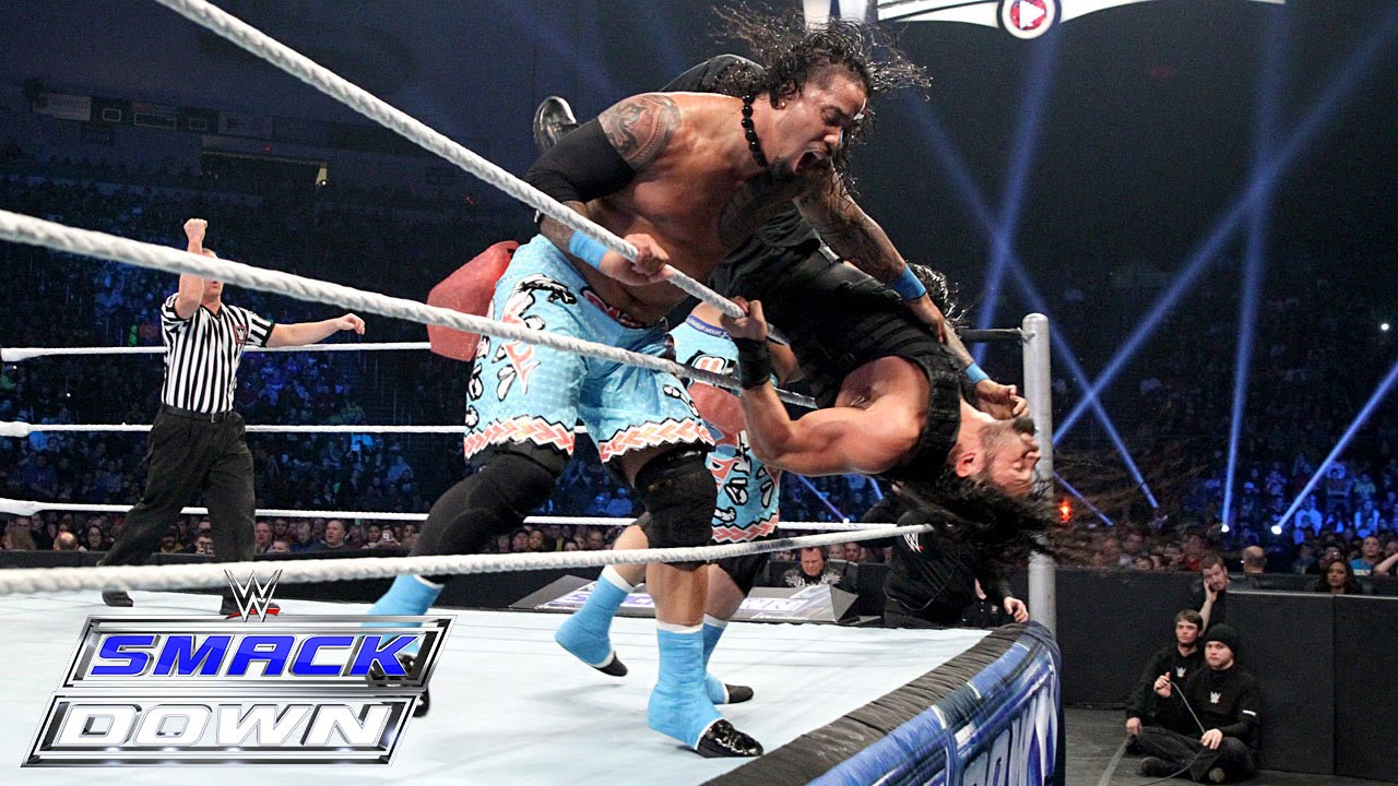 Download Reigns & Bryan compete in Tag Team Turmoil: Part 1: SmackDown, February 12, 2015