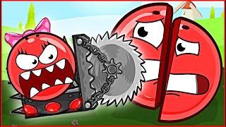 Девочка Шарик на МАШИНКЕ С ПИЛОЙ напала на Красный Шар ! Игра red ball 4 для детей от Спуди !