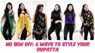 No Sew DIY: Style A Dupatta in 6 Different Fashionable Ways