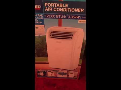 ARLEC portable Air Conditioner 12000 BTU/h 3.35kw review (homebase)