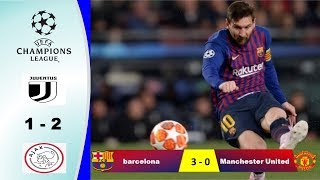 Download Video HASIL LIGA CHAMPIONS Barcelona VS Manchester United & Juventus VS Ajax17 APRIL 2019 MP3 3GP MP4