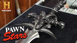 Pawn Stars: HIGH VALUE RARE LOOT: World of Warcraft Frostmourne Sword (Season 17) | History