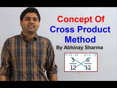 Origin Of Cross Product Method | Use Of Cross Product | Concept Of Cross Product Method Must Watch