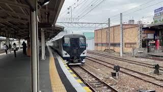 新型踊り子E257系三島駅発車シーン