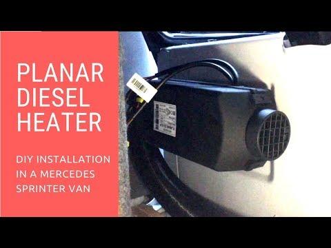 PLANAR 2KW DIESEL HEATER |  HOW TO INSTALL A DIESEL HEATER | MERCEDES SPRINTER DIY CAMPER VAN