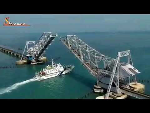 pamban bridge rameshwaram | world's most dangerous ship-rail bridge, india | shock wave