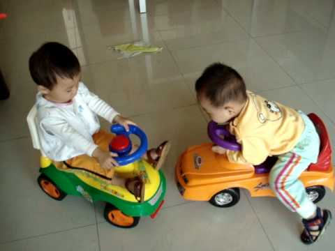 Twins Babies Playing Toys Car Youtube