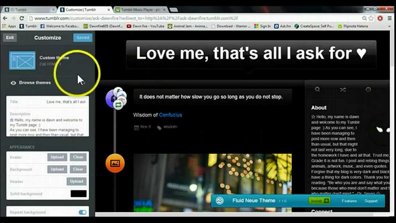 Tumblr Music Player - place a music player in your blog easily