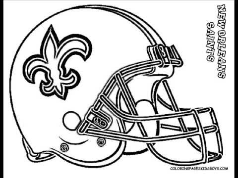 ColoringBuddyMike NFL Football Helmet Coloring YouTube