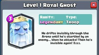 New Legendary Card- Royal Ghost, supercell don't tell about us