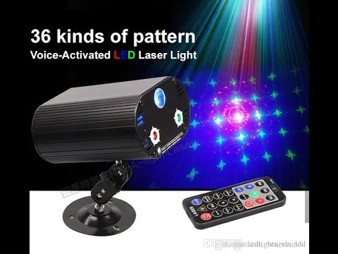 Stage lighting RGB LED Laser Lights remote laser Party Atmosphere lamp Disco Voice-activated