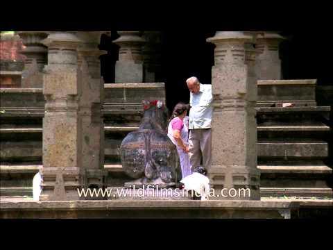 Devotees visiting Kashi Vishweshwar Mandir at Wai