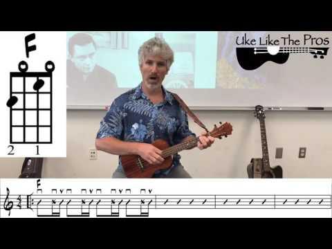 Folsom Prison Blues Johnny Cash Ukulele Lesson (chords and notation)