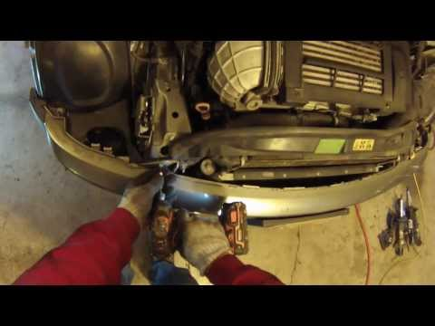 Front End Service mode 200206 MINI Cooperradiator removal howto