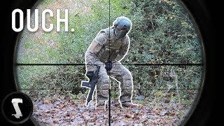 Airsoft CHEATERS Get Instant Karma (Shot in the B*LLS & Full-Auto Minigun) thumbnail