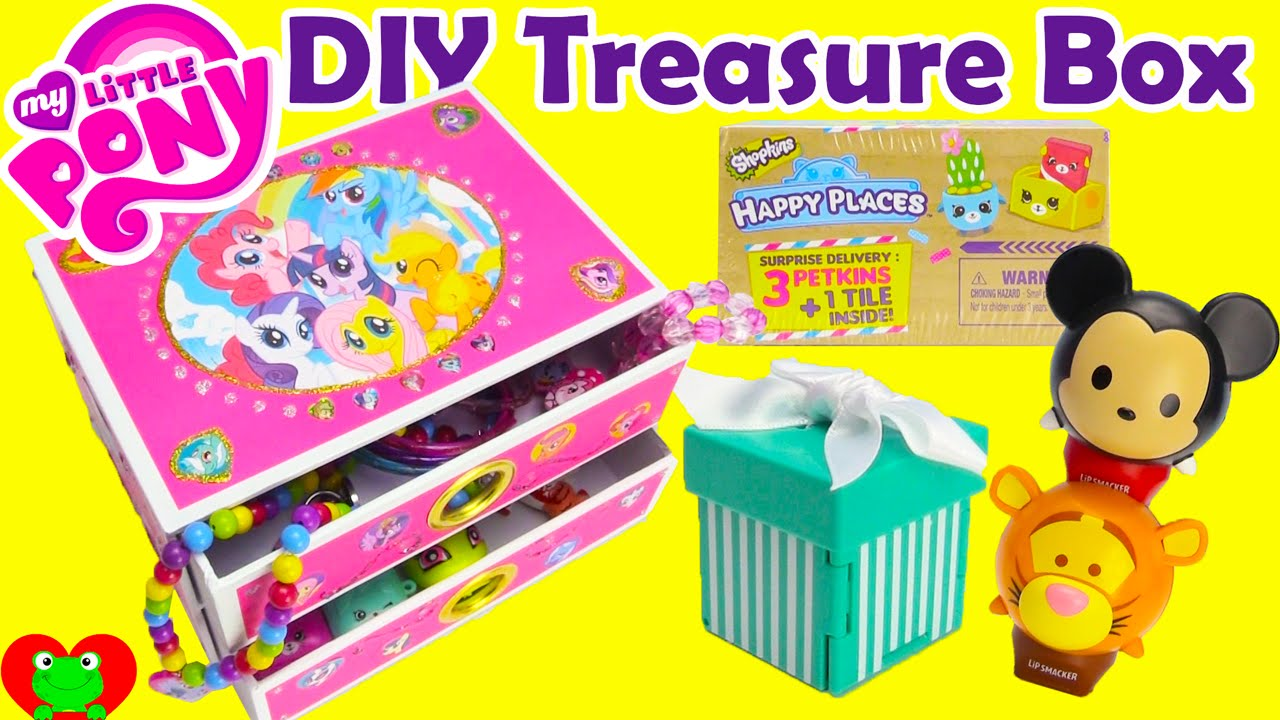 DIY Treasure Box My Little Pony Jewelry Box with Surprises YouTube
