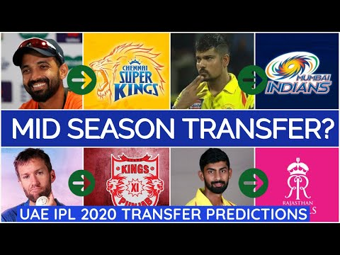 IPL Mid Season Transfer 2020 | Explained in Tamil | CSK MI RCB KKR KXIP DC RR SRH Player predictions