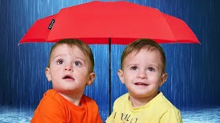 Rain, Rain Go Away  Song Nursery Rhymes with Daddy, Mommy, and the Childrens