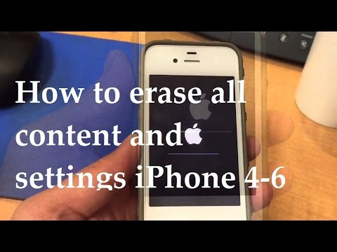 What is erase all content and settings on iphone 6