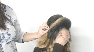 pakistani muslim bridal hairstyle in urdu /magic techniques by nazia khan